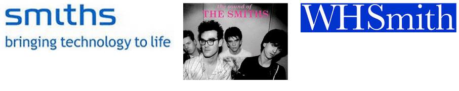 The Smiths, WHSmith, Smiths Technology. The risk of confusion