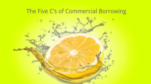commercial borrowing 5 c's