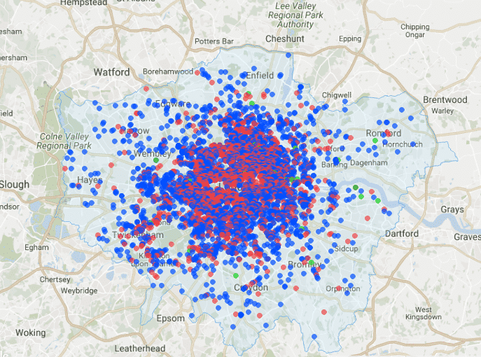 airdna london pinmap