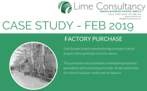 factory purchase commercial mortgage