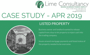 listed property mortgage case study
