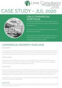 CBILS Commercial Mortgage July 2020