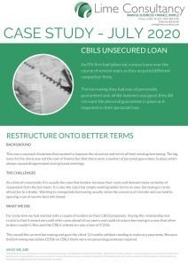 CBILS restructure loan July 2020