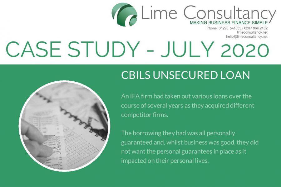 CBILS restructure loan July 2020