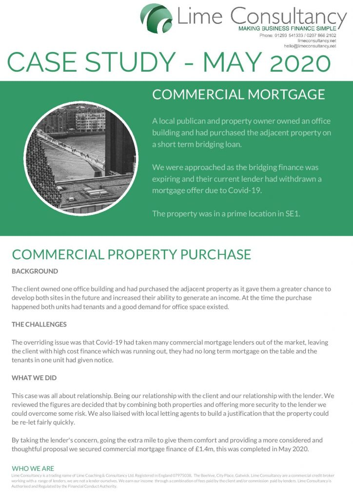 Commercial Mortgage May 2020