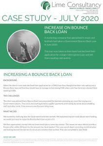 Increasing a bounce back loan July 2020