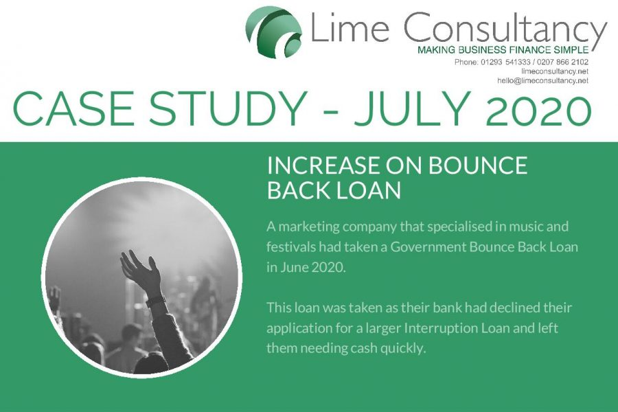 Increasing a bounce back loan July 2020