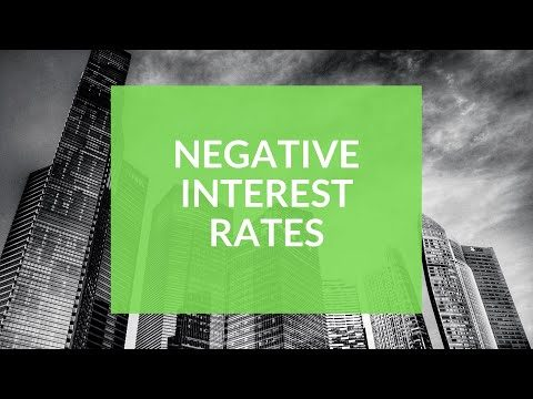 Negative interest rates - Will they happen? What will it mean?