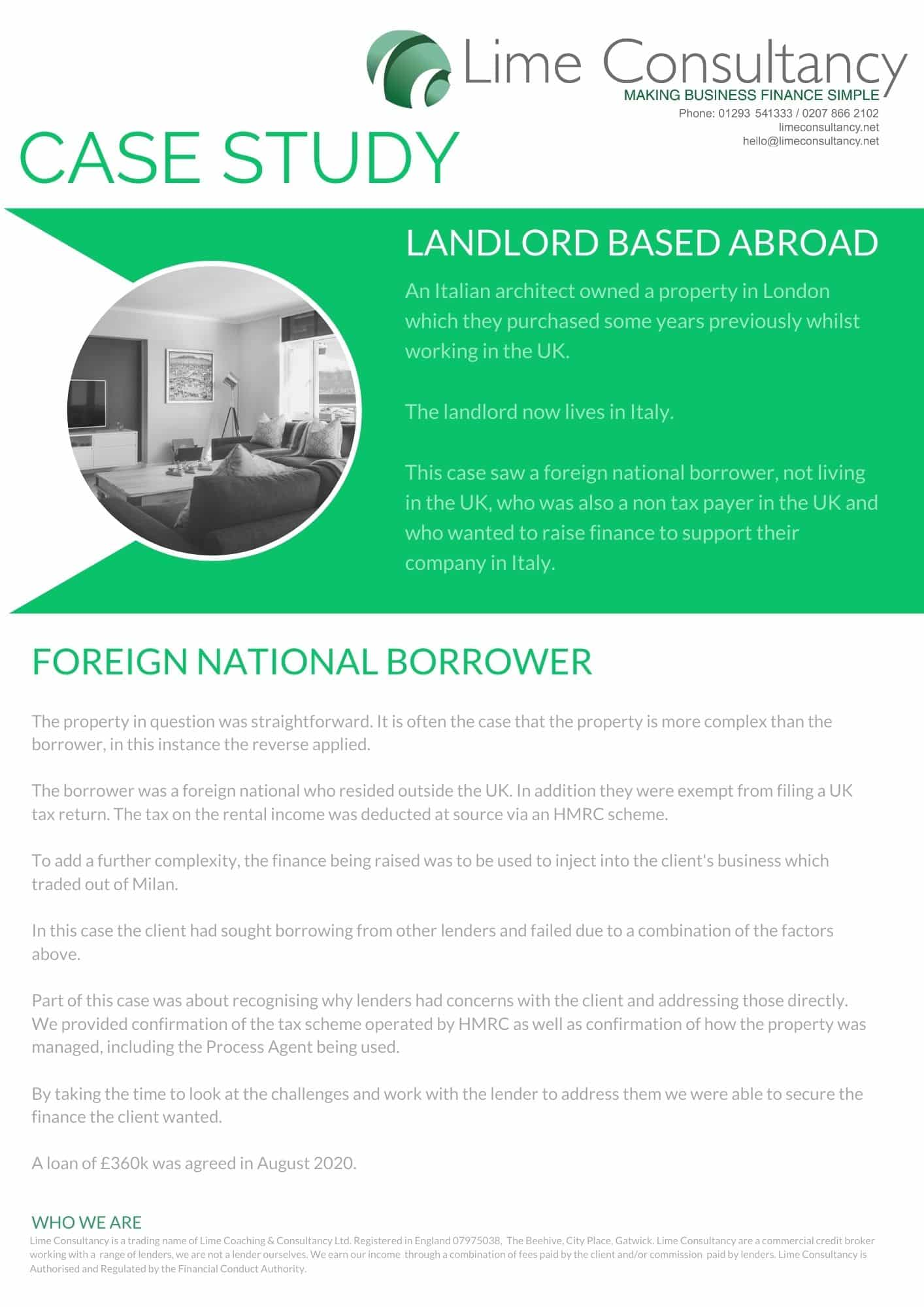 foreign landlord buy to let mortgage