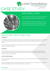 industrial units commercial mortgage loan