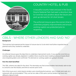 country pub & hotel business loan