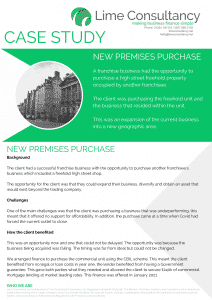 commercial premises purchase financed commercial mortgage