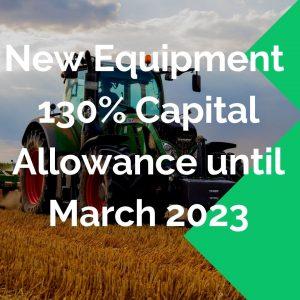 Capital allowance march 2023 new equipment